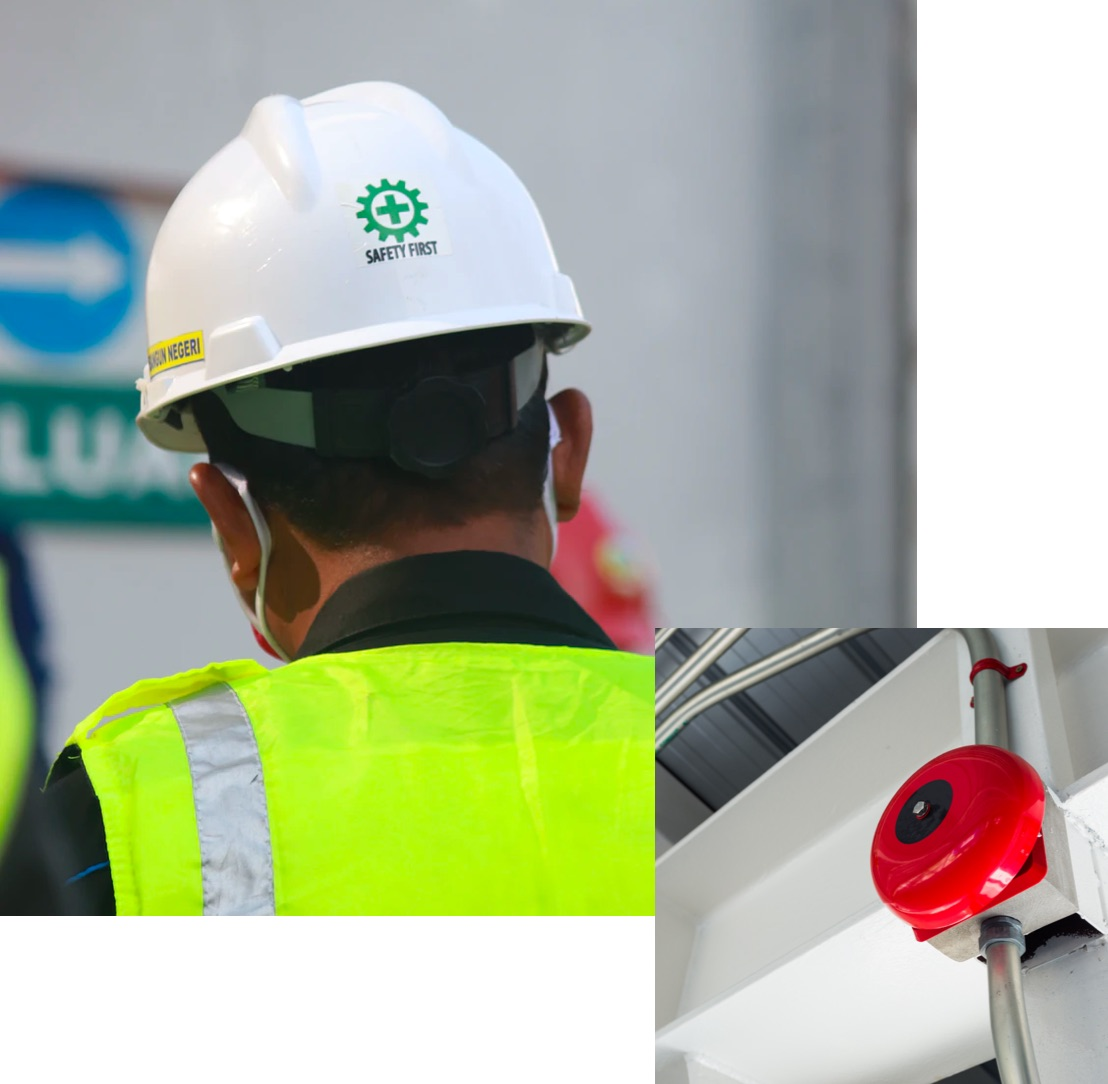 Safety helmet and alarm bell